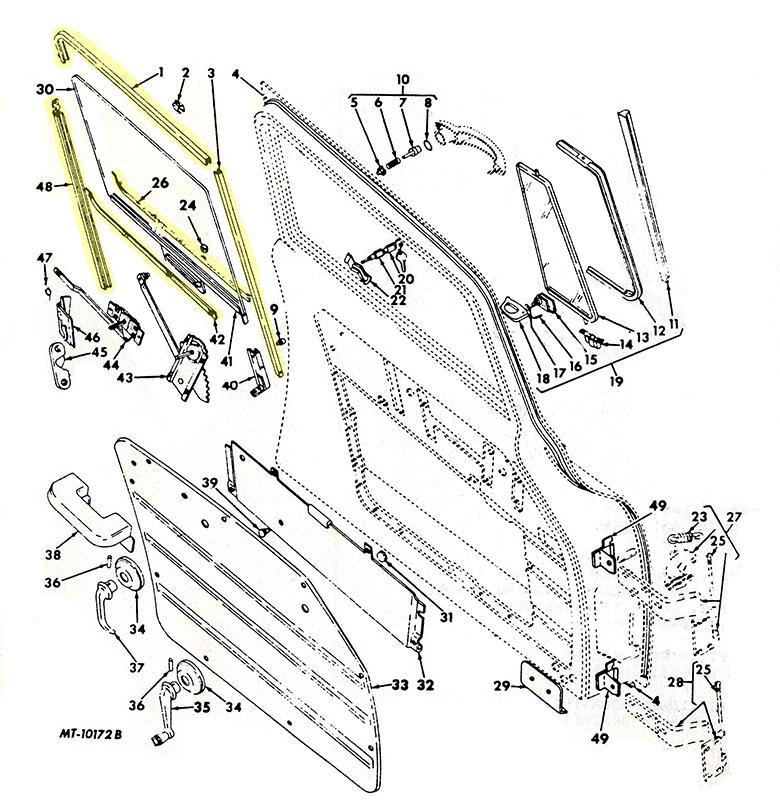 1957-78 Loadstar Door  Window  Seal & Guide Kit