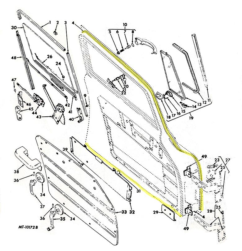 Loadstar Door To Body Weatherstrip Kit w/ Windlace - 2 door kit