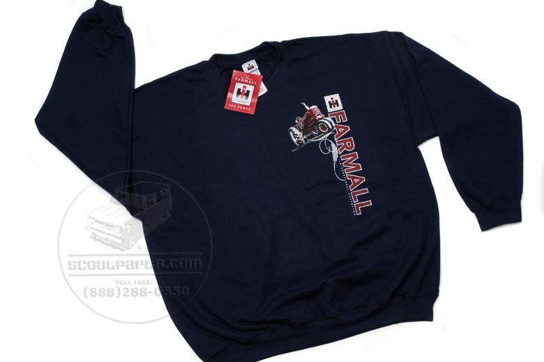 Navy blue crewneck sweatshirt - Farmall