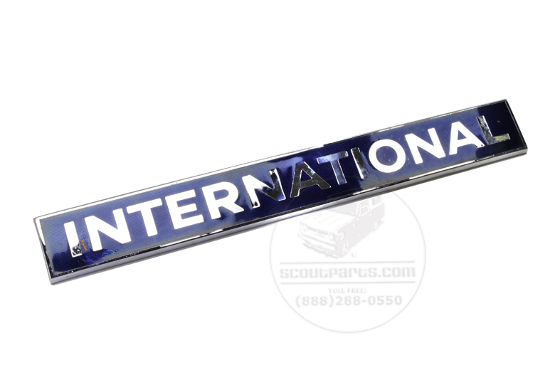 Emblem International- Chrome and Blue Enamel - S-Series trucks - NOS