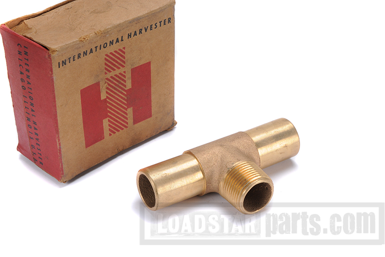 T-pipe solid brass - New old stock