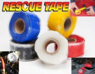 "This roll is 1 inch wide and 12 feet long. Stretch, Wrap and Rescue yourself.   Stretch it and it permanently bonds to itself. Tensile strength is 950 PSI.   Works in temperatures from -65 to  500 degrees fahrenheit. Electric insulation 8,000 volts. Waterproof and airtight. Made in USA. Can be used on fuel lines, radiator cooling hoses, vacuum compressed air lines,  and hydraulic lines. Resistant to fuel, oil and hydraulic fluid, heat and cold.  Four wheeler magazine says, ""This stuff is like duct tape on steroids!\""  The only silicone tape used by the US Army vehicle & tank battle damage assessment kit. Made in the USA <img src=\""/images/usaflag-backed.gif\"" />"