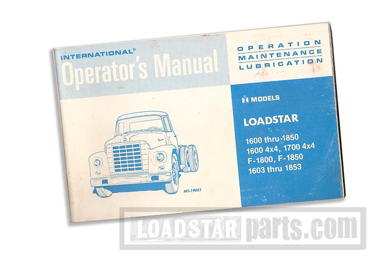 International Loadstar Cargostar Operator's Manual Reprint 1978 - photo is generic