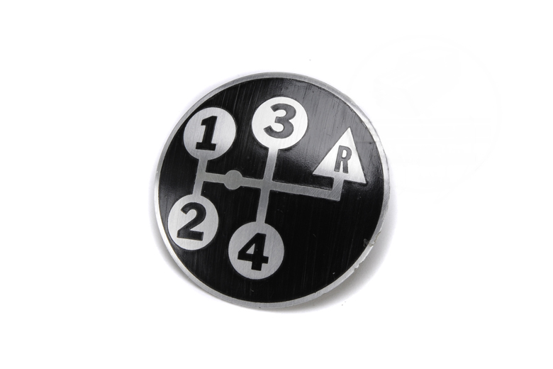 4 Speed Shift Knob Decal - Reverse Up