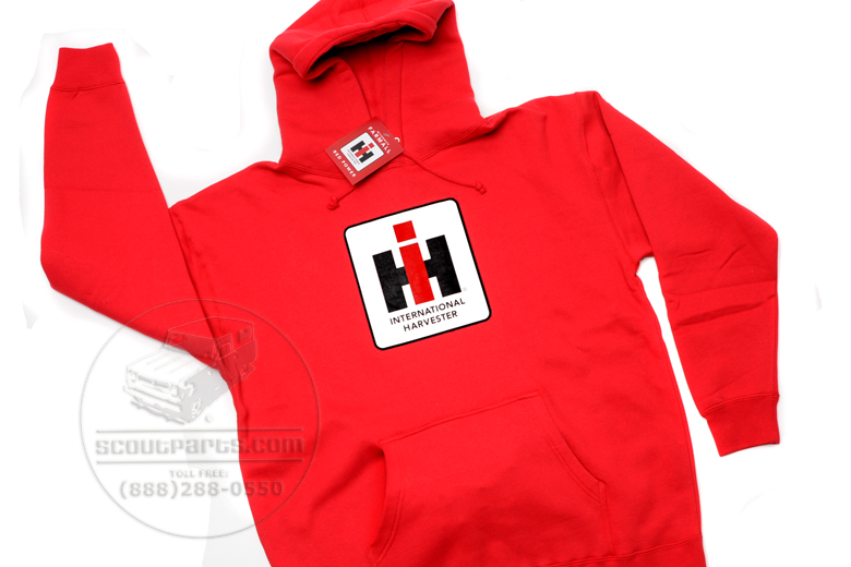 Hooded Sweatshirt -  Red- IH Logo