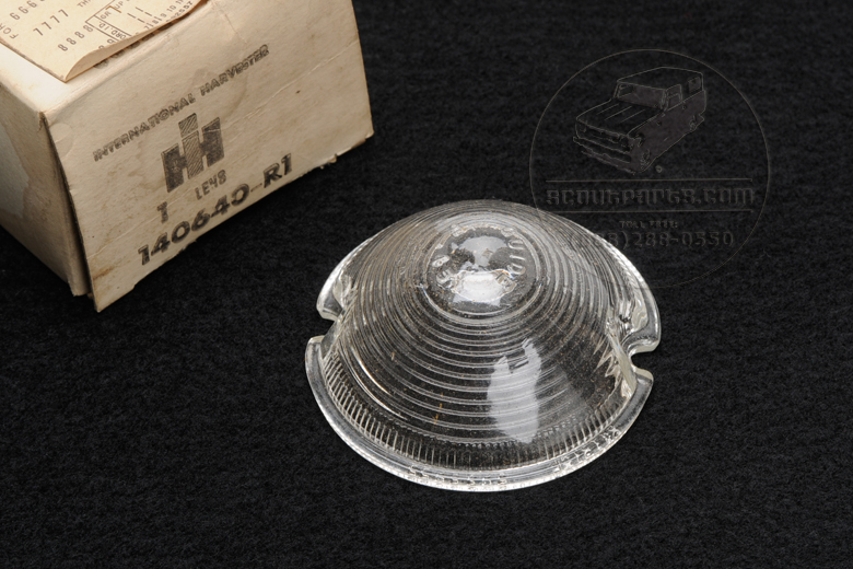 Glass Back Up Light Lens - NEW OLD STOCK