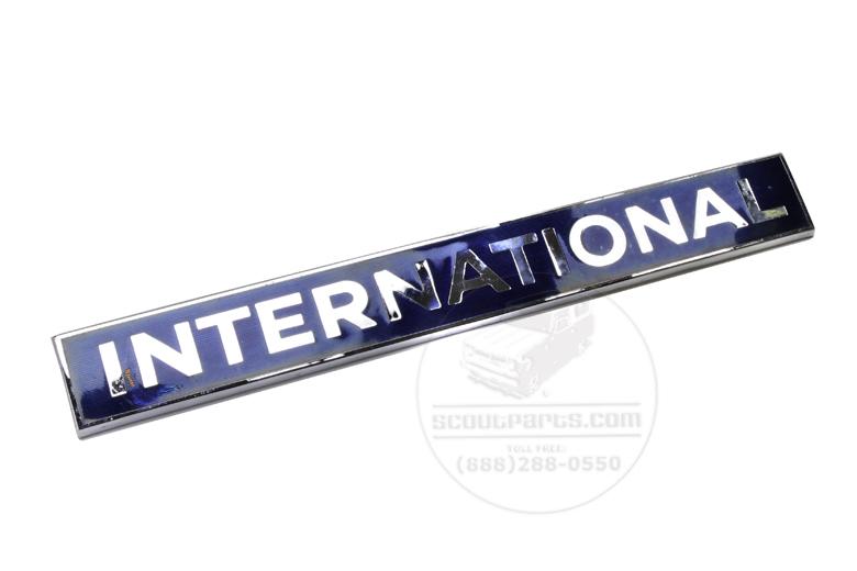 Emblem International- Chrome And Blue Enamel - S-Series Trucks - NOS