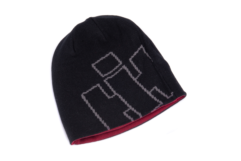 Reversible Red and Black IH Beanie Hat, Cap