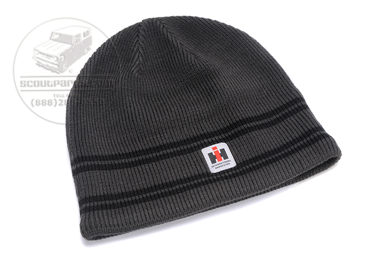 Grey and Black Beanie Hat with IH Logo