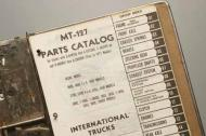 Parts manual for International Loadstar 1600, 1600 4x4, 1603, CO-1600, 1700, F-1700, 1700 4x4, 1703, 1750, CO-1700, CO-1750, 1800, F-1800, 1803, 1850, F-1850, 1853, 1890, 1890D, CO-1800, CO-1850 Models (with Serial number FD, SB, C, G and H)  Parts Catalog, 1987 pages, reprint.  This book shows you exploded views of very single part in your truck with part numbers.